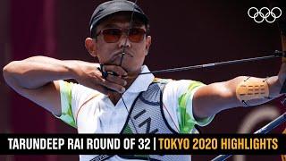 Tarundeep Rai's Round of 32 win 🏹    #Tokyo2020 Highlights
