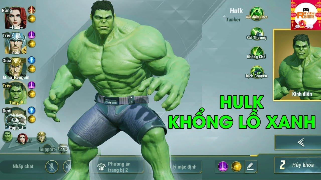 MARVEL Super War – Hulk Khổng Lồ Xanh Siêu Tanker Bảo Kê Mở Combat Cực Ấn Tượng
