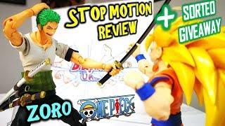 SORTEO - GIVEAWAY (VENOM) Unboxing Review RORONOA ZORO VAH Stop Motion One Piece DibujAme Un