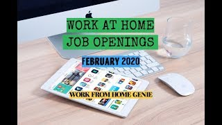 WORK AT HOME JOB OPENINGS || FULL TIME & PART TIME || FEBRUARY 2020
