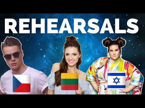 Eurovision 2018 - Czech Republic, Lithuania & Israel Rehearsal (Press Center)