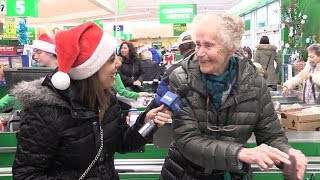 Grocery store shoppers get huge holiday surprise