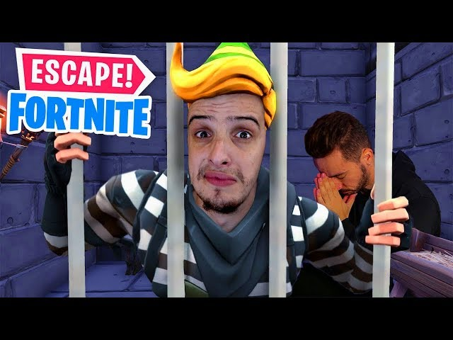 ESCAPEI DA PRISÃO DO FORTNITE! c/Tiagovski