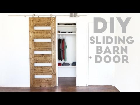 DIY Mid-Century Modern Sliding Barn Door | Modern Builds | EP 54