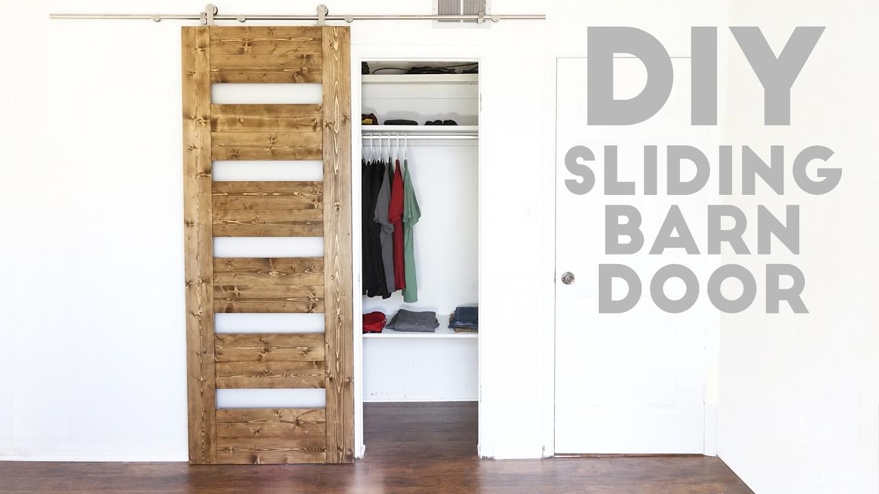 DIY Mid-Century Modern Sliding Barn Door | Modern Builds ...