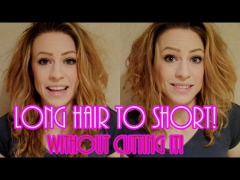 how to make long hair short without cutting