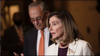 Nancy Pelosi and Chuck Schumer hold news conference on coronavirus aid bil;