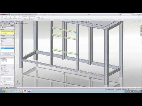 Using Weldments for Furniture Design in SolidWorks [Webcast]