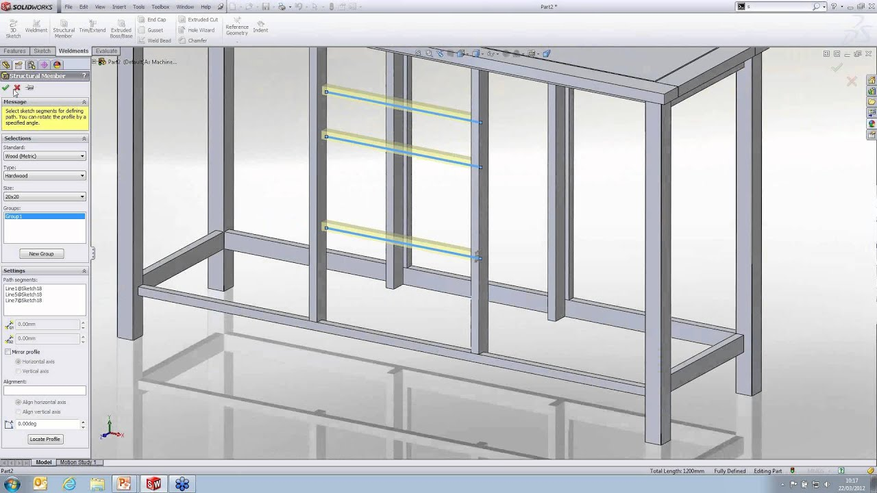 Using Weldments For Furniture Design In SolidWorks [Webcast]   YouTube