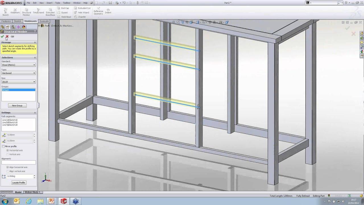 Using Weldments For Furniture Design In Solidworks Webcast