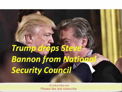 Trump drops Steve Bannon from National Security Council