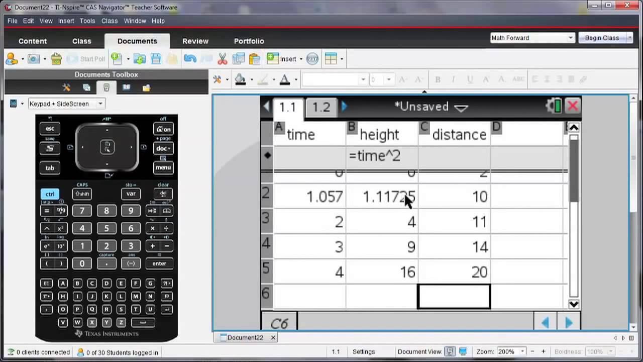 TI Nspire™ CX Handheld Enter and Analyze Data