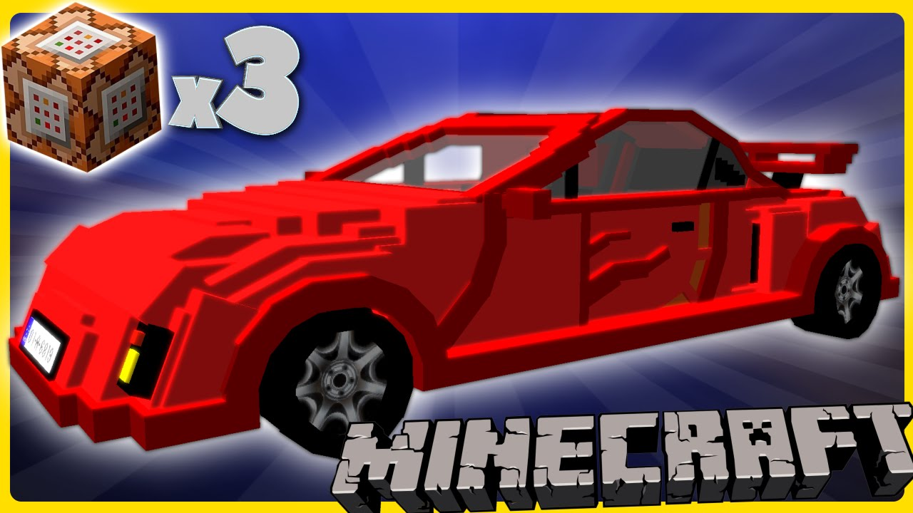 Racecars In Minecraft W Three Commands Youtube