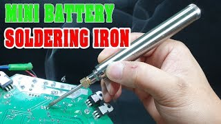 MINI Battery Powered Soldering Iron 5V 8W Review