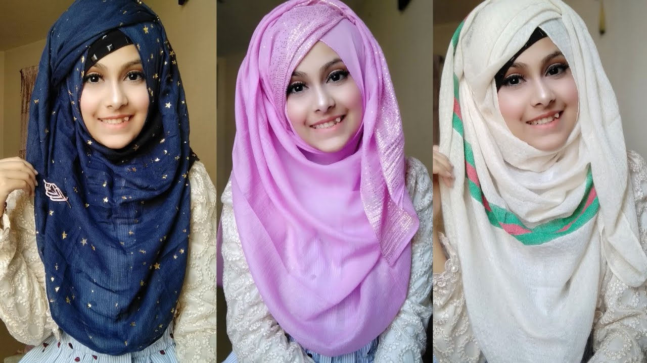 Easy Everyday hijab tutorial for Summer  6 hijab style for  school,college, students  Noshin ❤
