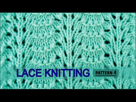Ridged Feather Stitch Lace Knitting Pattern 4 Youtube