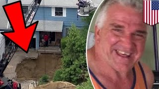 Sinkhole caught on tape  Man swallowed alive by giant Long Island cesspool sinkhole   TomoNews