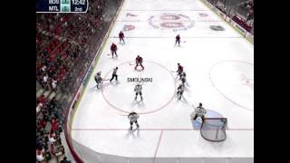 NHL 09 Montreal vs Boston - Gameplay