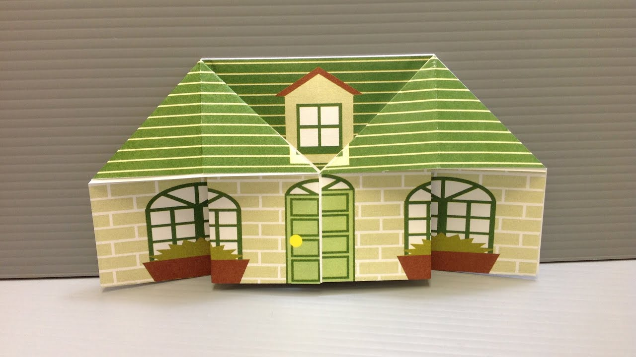 Free origami house paper print your own cute houses for How to make a house step by step