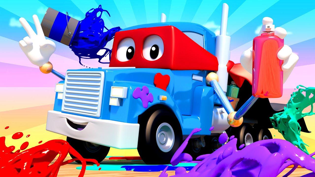 Xe tải vẽ tranh nghệ thuật - Siêu xe tải Carl