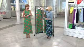 Liz Claiborne New York Petite Floral Print Maxi Dress with Mary Beth Roe