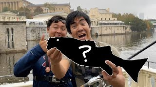 URBAN FISHING in a POLLUTED RIVER!!! (You Won't Believe What I Caught!)