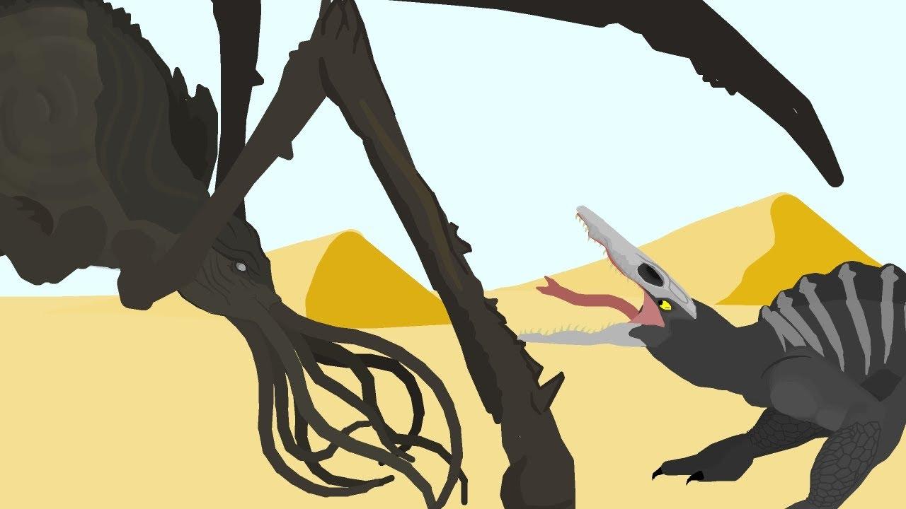 Titanus Scylla vs Giant Skull Crawler  |  FIGHT TIL DEATH  |  Pivot Animation