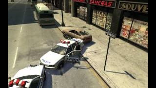 Прикол с GTA 4 - Чак Норрис телепортировался в машину