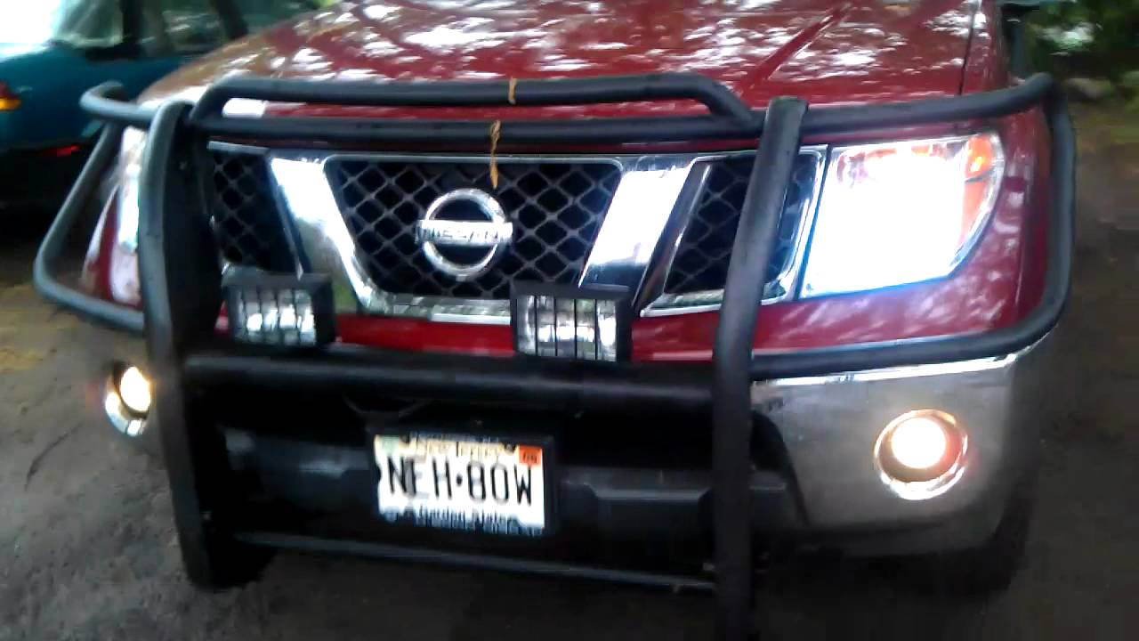 Nissan Frontier With Led Lights Youtube