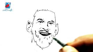 How to Draw Lionel Messi with a Beard || Drawing Lionel Messi - 2018