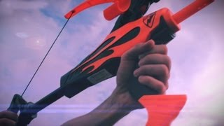 Nerf Bow Blaster Battle! thumbnail