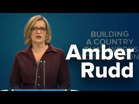 Amber Rudd: Speech to Conservative Party Conference 2017
