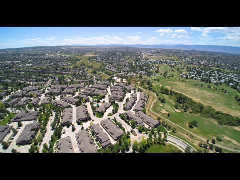 400ft aerial view of Highlands Ranch, CO