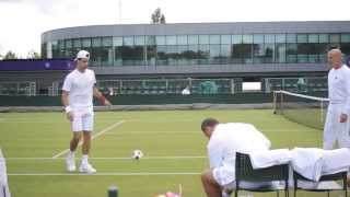 Football at Wimbledon with Novak Djokovic