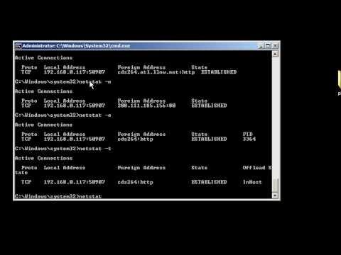 Windows command line networking: netstat