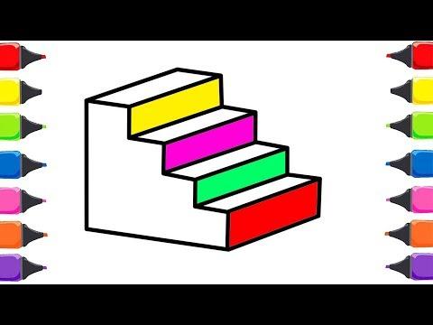 Merdiven Nasil Boyanir Boya Boya Cizelim Boyayalim Cocuklar