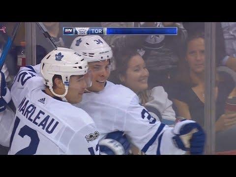 Patrick Marleau 1st Goal of the Season! 10/04/17  (Toronto Maple Leafs vs Winnipeg Jets)