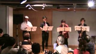 """From live performance of """"Julians"""" Clarinet Quartet & Percussion, on November 18, 2012. 2012年11月18日の""""ジュリアンズ""""ライブから。"""