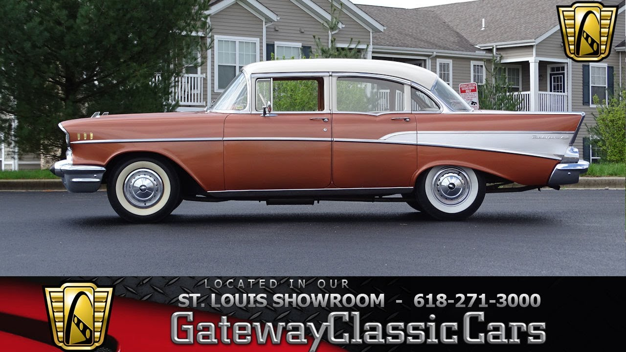 1957 chevrolet bel air sedan 7258 gateway classic cars st louis showroom youtube. Black Bedroom Furniture Sets. Home Design Ideas
