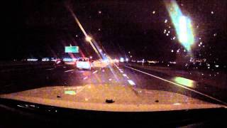 GoPro: Passing a STREET SWEEPER on the Freeway on a Rainy Night in Phoenix