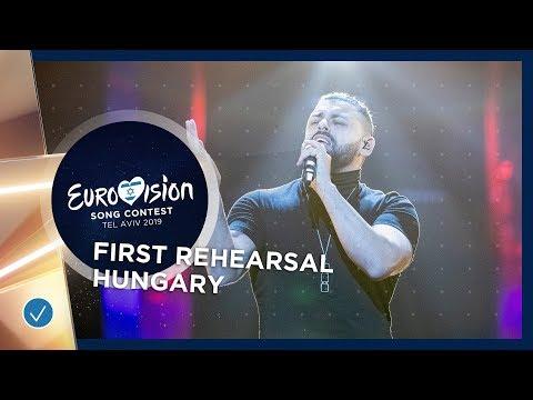 Hungary 🇭🇺 - Joci Pápai - Az én apám - First Rehearsal - Eurovision 2019