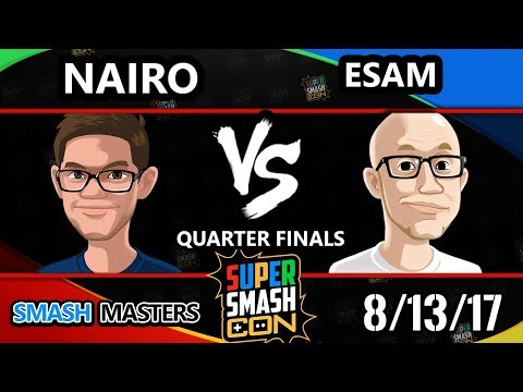 Smash Con 2017 Smash Masters - NRG   Nairo vs PG   ESAM - Quarter Finals