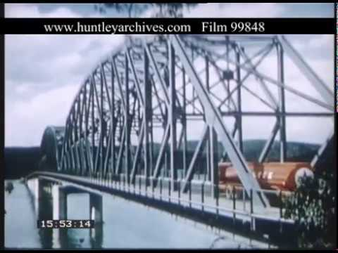 Rail And Bridge Engineering In Australia, 1950s - Film 99848