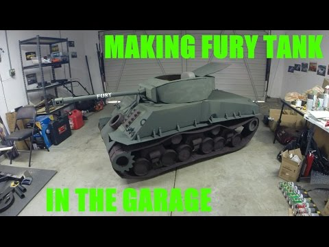 making-fury-tank-using-cardboard-and-wheelchair