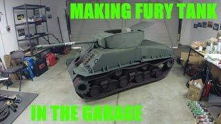 Making Fury Tank using Cardboard and Wheelchair