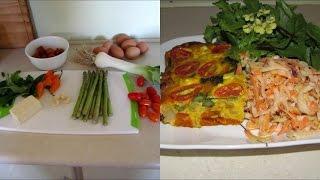 Pumpkin, Asparagus & Leek Frittata With A Kohlrabi Salad..