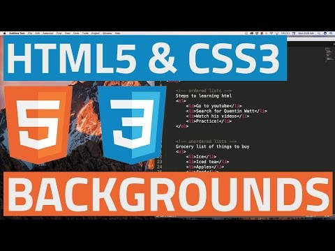 HTML5 And CSS3 Beginner Tutorial 17 - Background Images