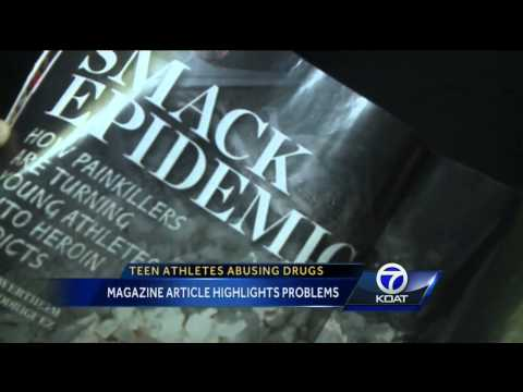 Article highlights teen athletes abusing drugs