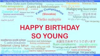 So Young   Languages Idiomas - Happy Birthday