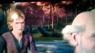 sherk tercero Arturo le ruega al sr . Merlin para que los lleva a Muy Muy Lejano
